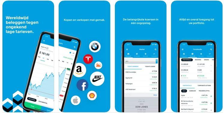 aandelen app Degiro, DEGIRO beleggen app, beste beleggingsapp
